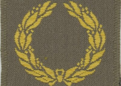 Patch with yellow laurel wreath