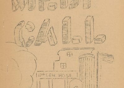 Cover of MEDICALL with outline of the 12th General Hospital facility in Livorno