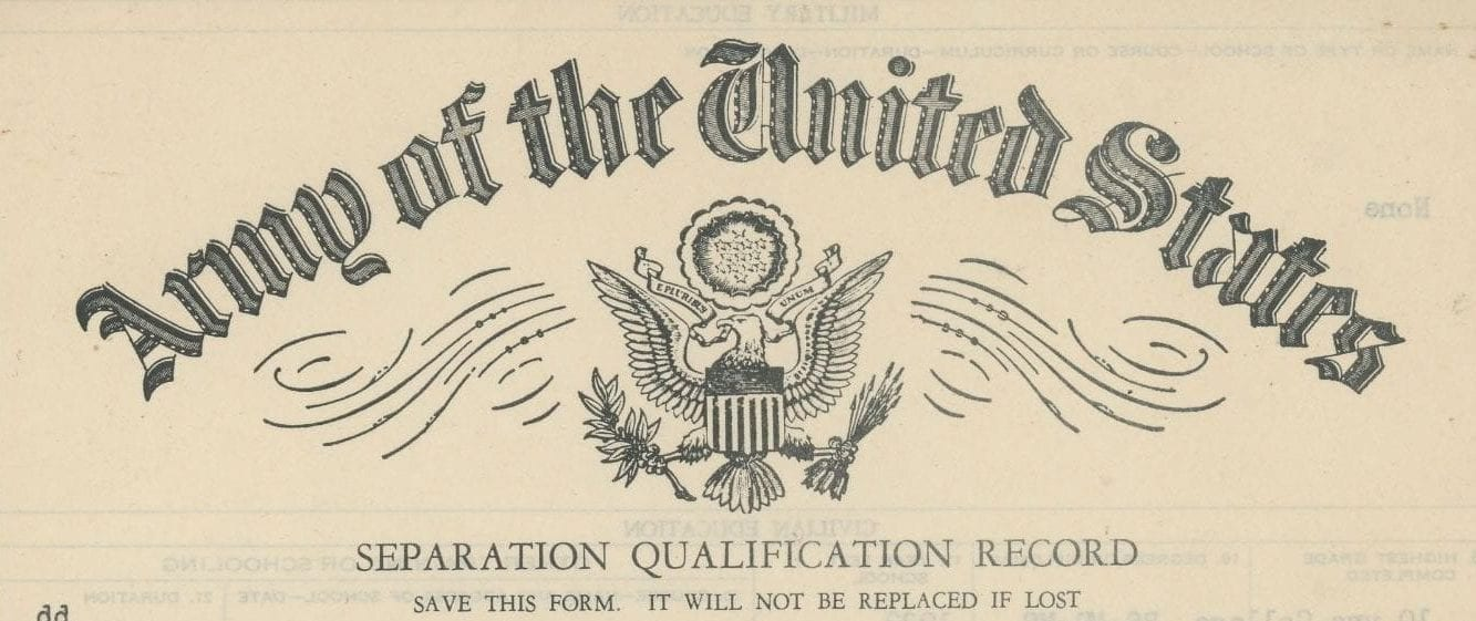 Top of Army Separation Qualification Record