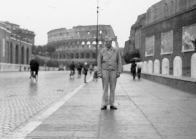 GI in front of the Colosseum