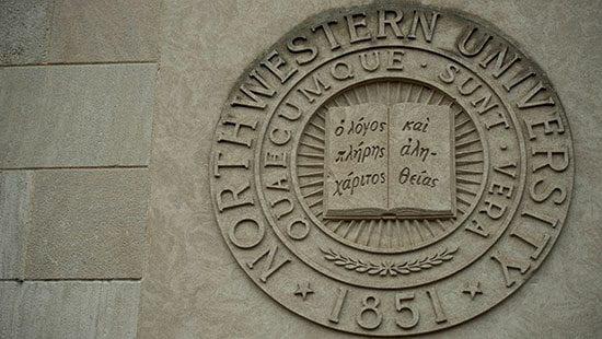 Northwestern University Seal in Stone