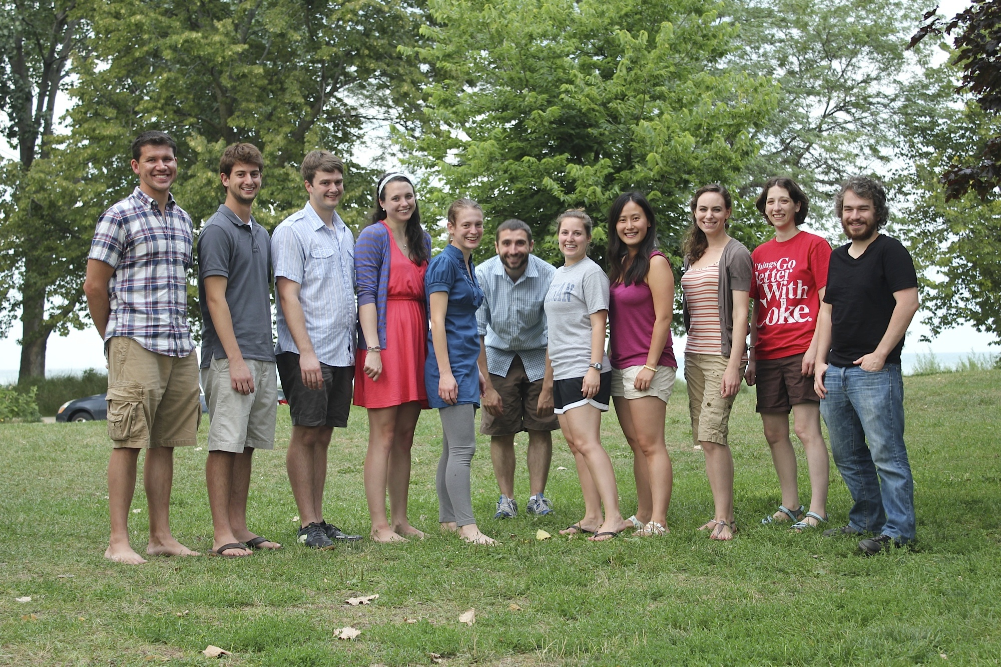 Group photo from the summer lab BBQ!
