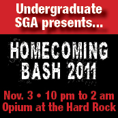 Undergraduate SGA presents... Homecoming Bash 2011.