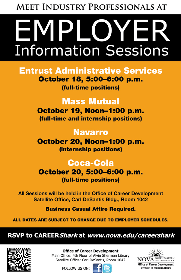 Meet employers, right here on campus, who are currently hiring for full-time and internship positions.