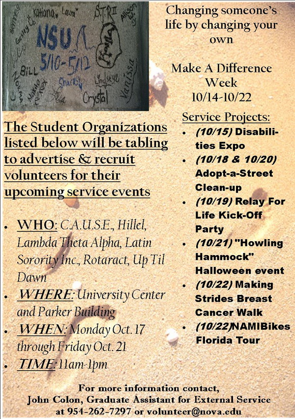 NSU Make a Difference Week