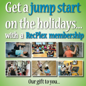 RecPlex Holiday Membership Promo