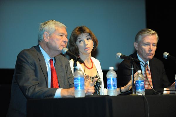 Bob Graham at panel discussion.