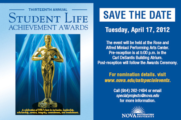 Student Life Achievement Awards on April 17