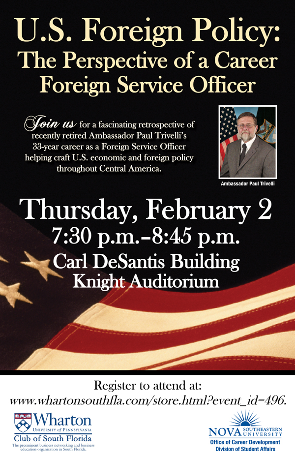 Ambassador Paul Trivelli to Speak at NSU
