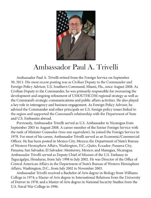 Ambassador Paul Trivelli -- biography