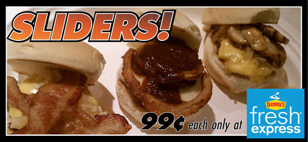 image--Get 99 cent sliders at Denny in the Don Taft University Center