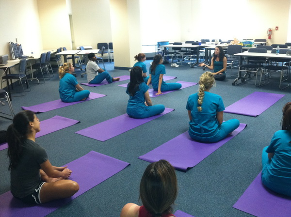 photo: Yoga Class, MIAMI--March 2012