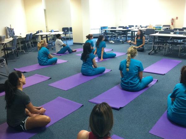 photo: Yoga Class, MIAMI--March 2012