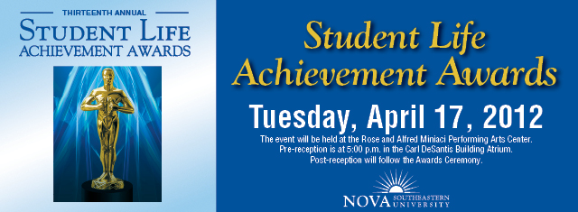 graphic for Student Life Achievement Awards