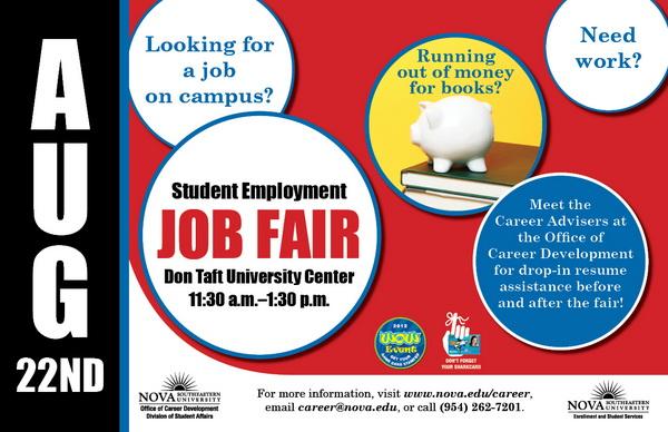 poster graphic--Student Employment Job Fair 2012