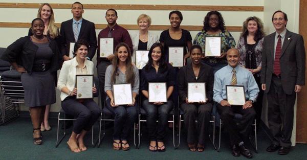photo -- National Honor Society inductees