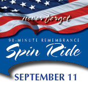 9/11 Remembrance Spin Ride, 90-min spin ride