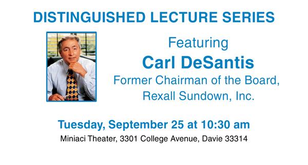 Carl DeSantis Speaks at Miniaci