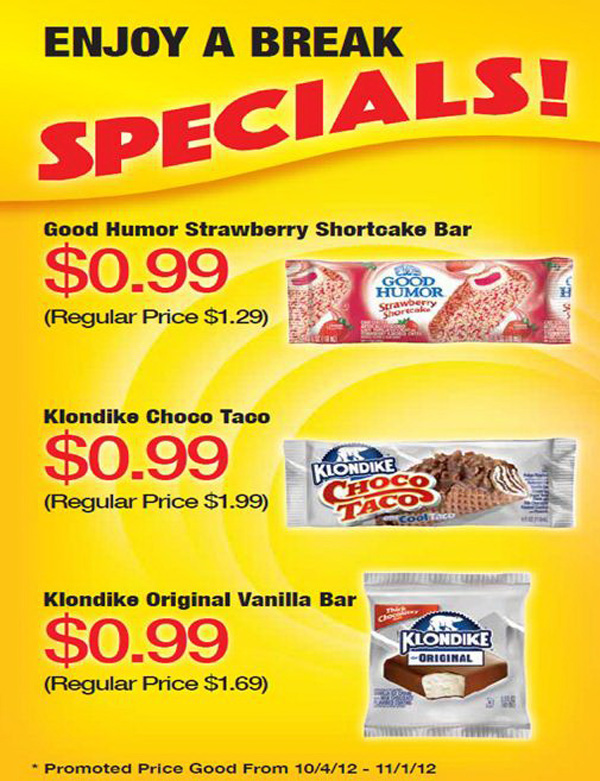 NSU Bookstore -- cold snack specials
