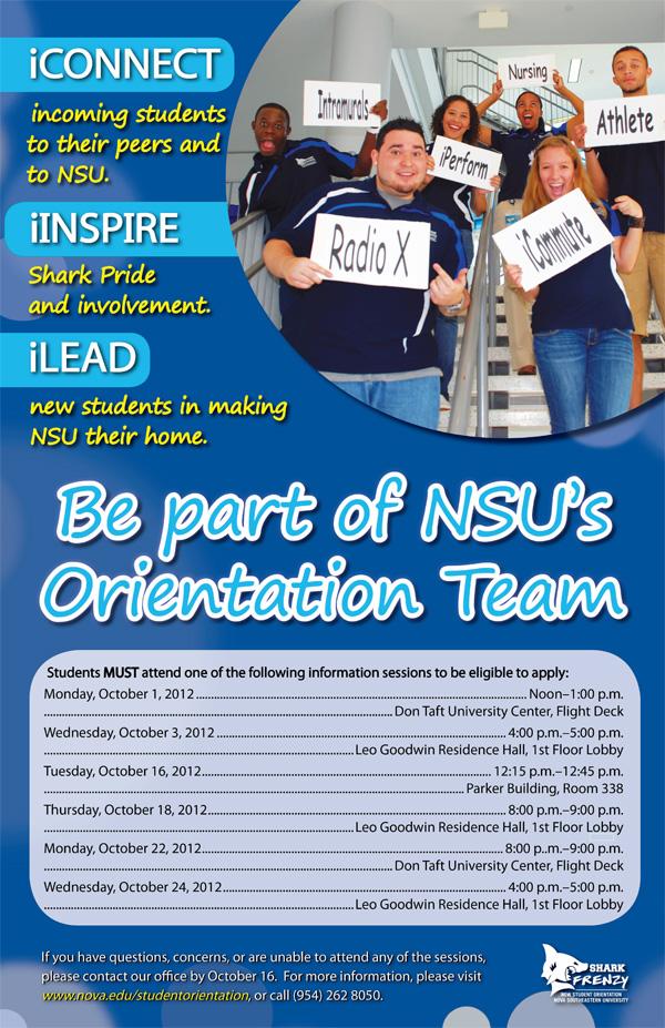 NSU Orientation Team Selection