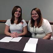 Cristine Busser and Sara Stanley
