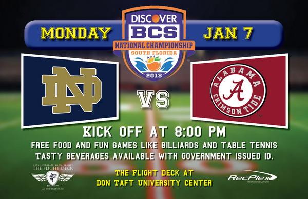 Discover BCS National Championship Game: Notre Dame University vs. University of Alabama