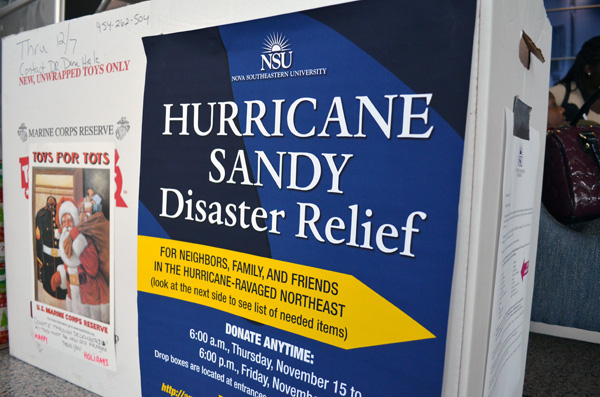Hurricane Sandy Relief Drive