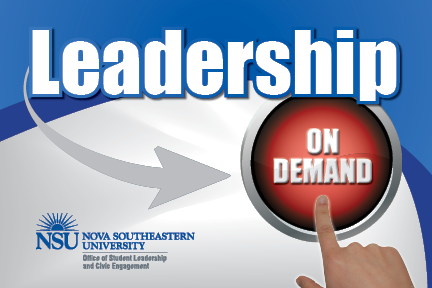 Leadership On-Demand--educational workshops for student leaders
