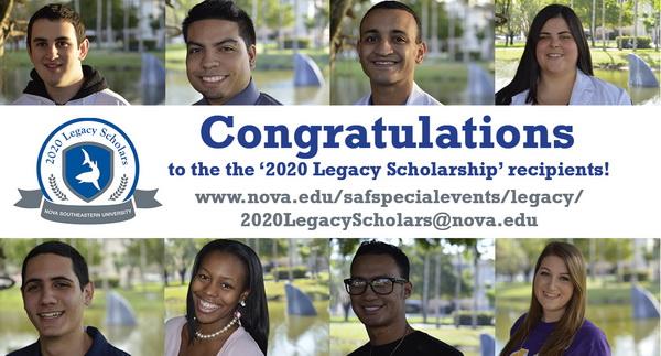 2020 Legacy Scholars Recipients