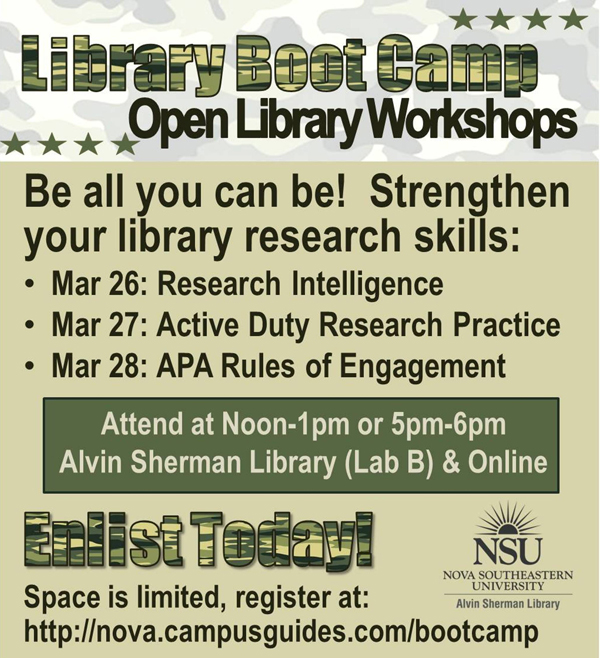 Library Boot Camp
