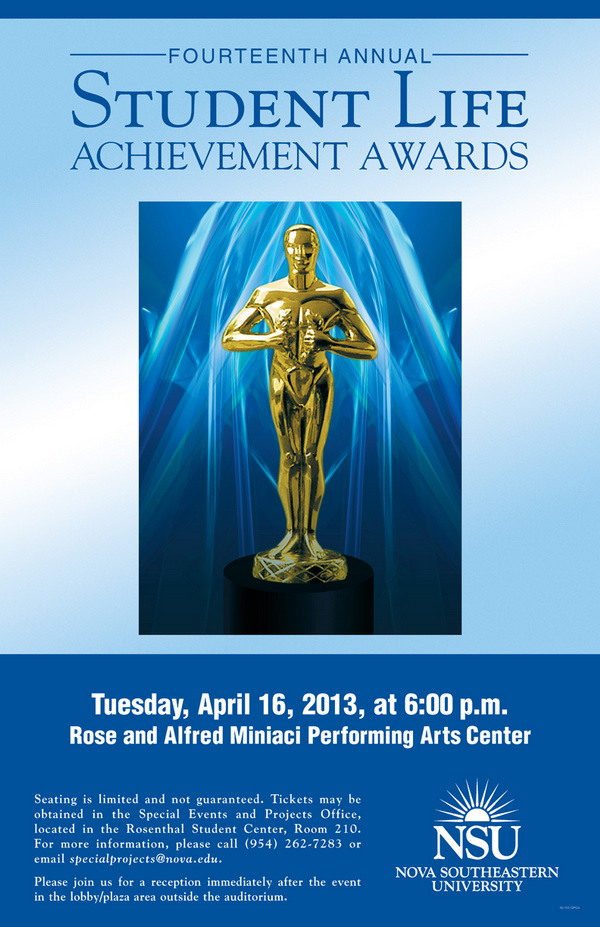 Student Life Achievement Awards to be held April 16