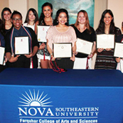 NSU students inducted into national honor societies