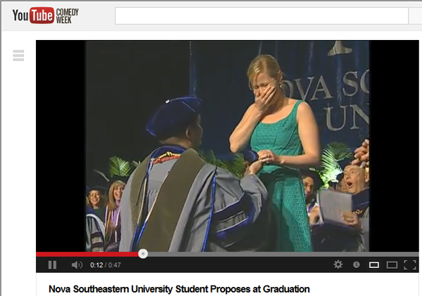 Marriage Proposal at NSU Commencement