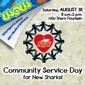 community srevice day for new sharks--august 31, 2013