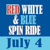 90-minute spin ride july 4
