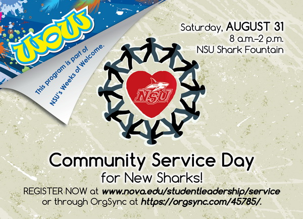 Community Service Day for New Sharks!, Aug 31, 2013