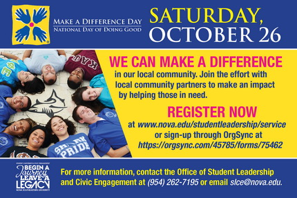 NSU's Make a Difference Day, October 26, 2013