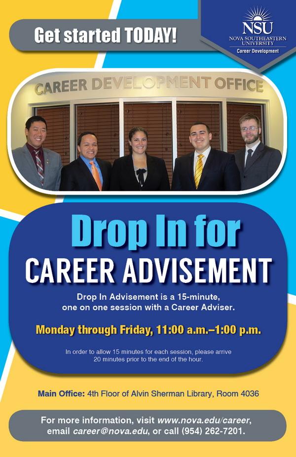 Career--DropIn Advisement--fall 2013