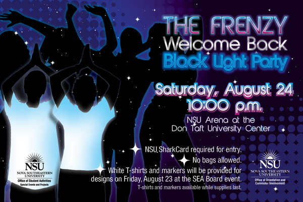 Welcome Back Frenzy, August 24, part of Weeks of Welcome