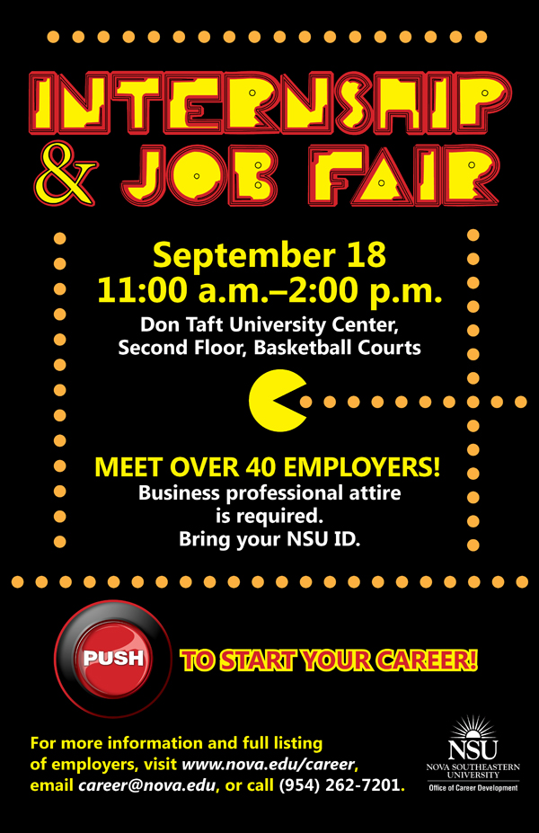Internship Job Fair--September 18