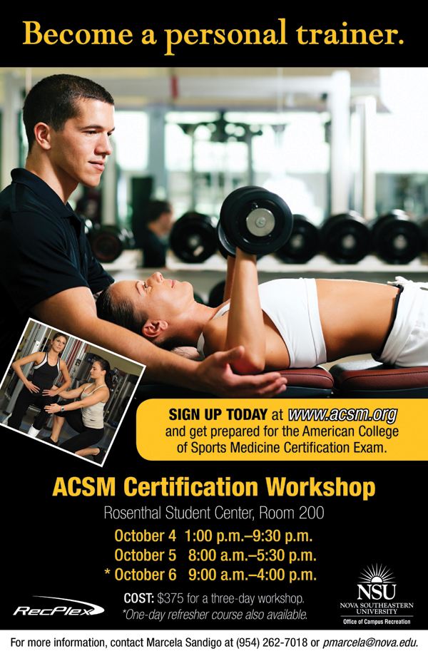 ACSM Certification Workshop