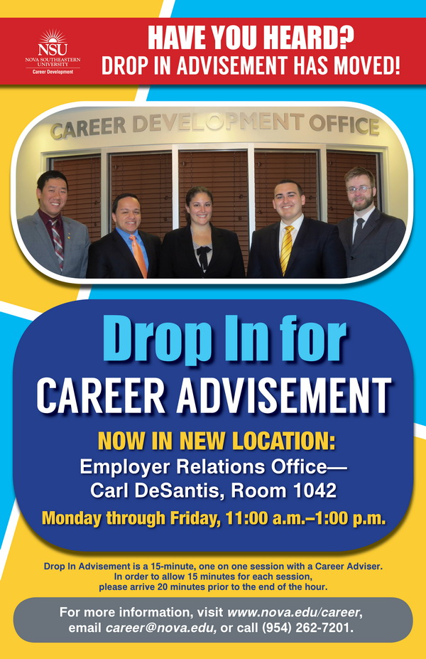 Drop In Career Advisement Has Moved.