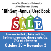 18th Semi-Annual Used Book Sale at Alvin Sherman Library