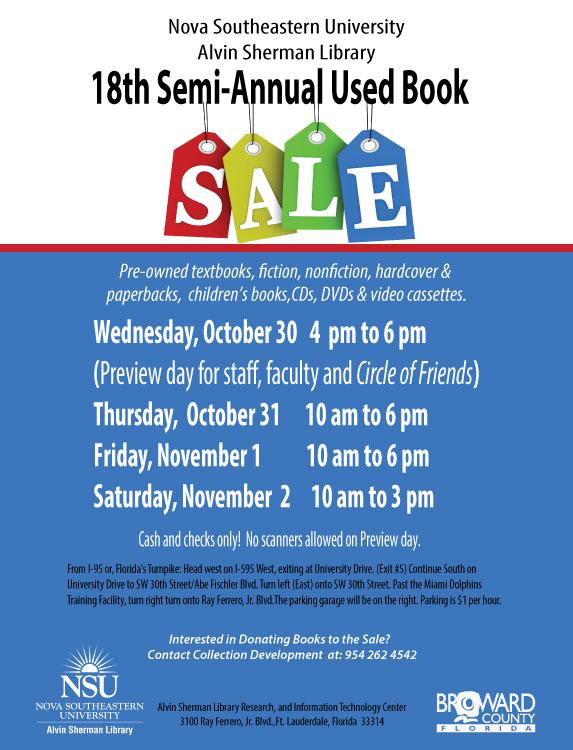 18th annual book sale at NSU Alvin Sherman Library