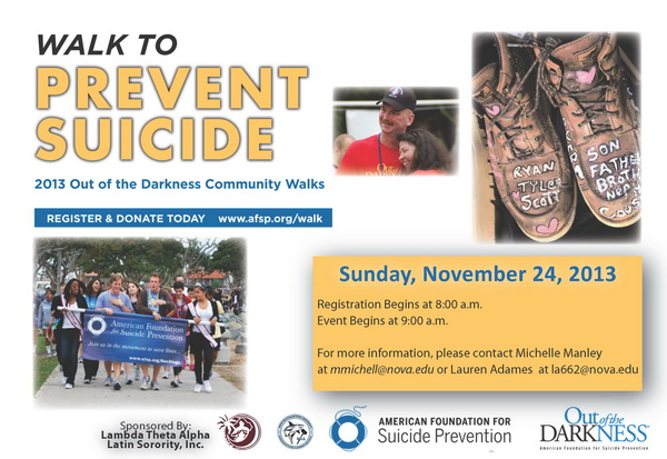 2013 Out of the Darkness Community Walks--Walk to Prevent Suicide
