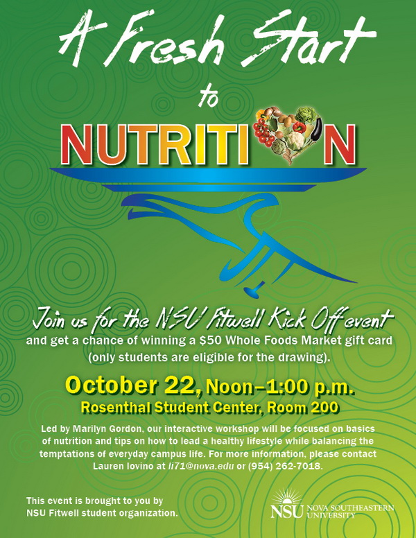 A Fresh Start to Nutrition--NSU Fitwell Kick Off Event