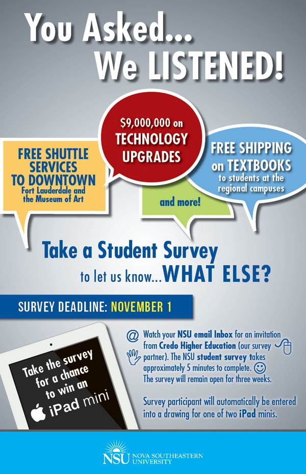 NSU Student Survey 2013