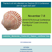 NSU staff attended Florida Occupational Therapy State Conference 2013
