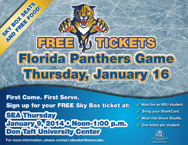 Free Florida PanthersTickets for NSU Students