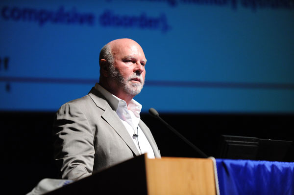 Pioneering scientific researcher J. Craig Venter, Ph.D., spoke to an audience of nearly 400 people at NSU on Nov. 13.